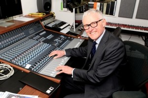 Norman Lamb in the new music studio at the Highfield Unit Oxford