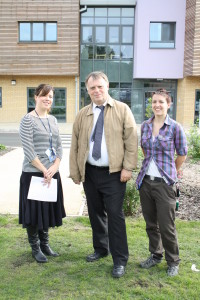Psychiatrist Dr Kate Stein with Andrew Smith MP and teaching assistant Helen McCuaig