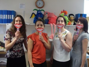 Big smiles from our oral health promotion team
