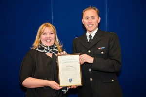 Kathy Smithwhite receives her commendation