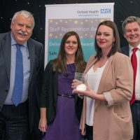 Picture of the Medical Human Resources Team with Chief Executive Stuart Bell CBE and Chairman Martin Howell