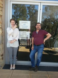 FASS therapists Claire Mein and Gerry Byrne in Adelaide