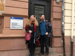 FASS therapists Gabrielle Less and Gerry Byrne in Heidelberg