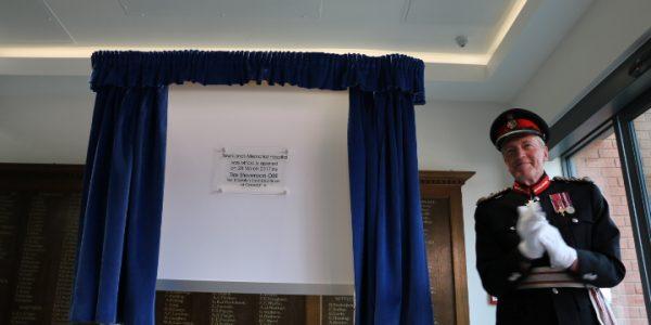 Tim Stevenson with plaque