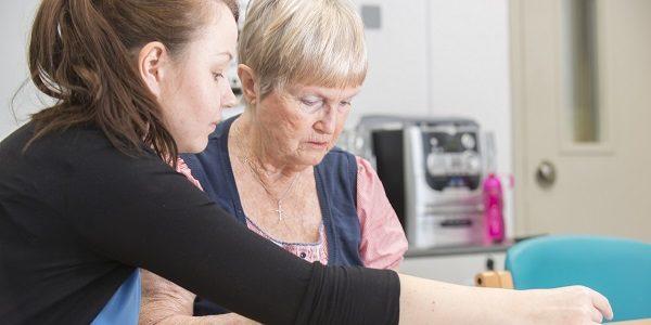 Nurse with older woman
