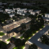 Artist's view of planned Warneford buildings