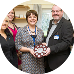 Photo of Oxford Health staff receiving an award.
