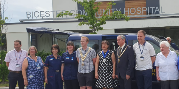 League of Friends donation to Bicester Communication Hospital