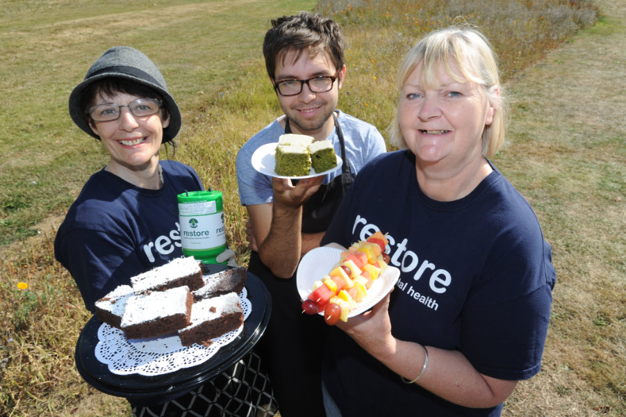 The Oxford Health Charity's Healthfest 2019 at The Warneford Hospital, Oxford. Restore had a stall selling delicious cakes- some made from unusual ingredients such as spinnach and butternut squash.
