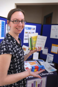 The Oxford Health Charity's Healthfest 2019 at The Warneford Hospital, Oxford.Outreach librarian for Oxford Health Libraries, Katie Treherne