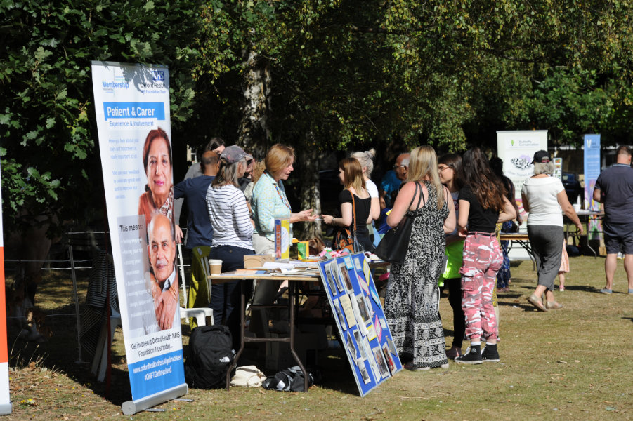 The Oxford Health Charity's Healthfest 2019 at The Warneford Hospital, Oxford.