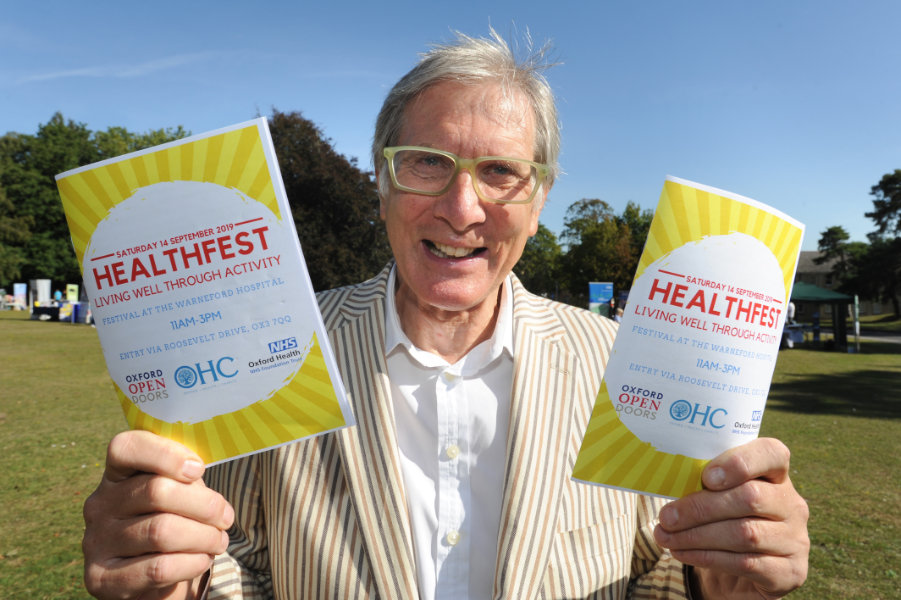 The Oxford Health Charity's Healthfest 2019 at The Warneford Hospital, Oxford.David Walker, Chairman of Oxford Health NHS Foundation Trust.