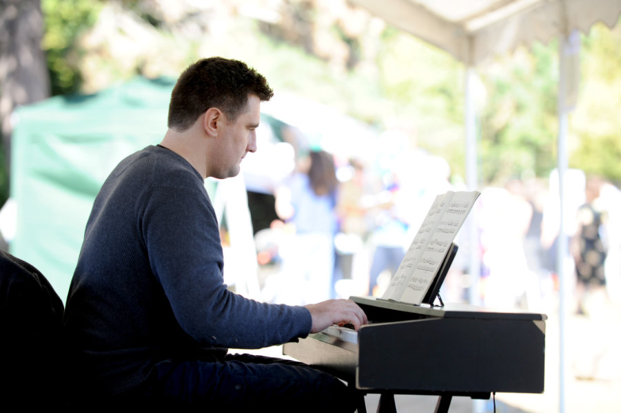 The Oxford Health Charity's Healthfest 2019 at The Warneford Hospital, Oxford. Matt Varney performed a classical piano recital.