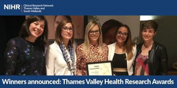 Oxford Health Staff recognised in Thames Valley Health Research Awards