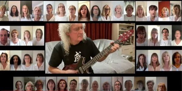 WOAPA performs with Queen's Brian May