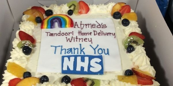 Ahmed's Tandoori says it with a cake: Thank you NHS