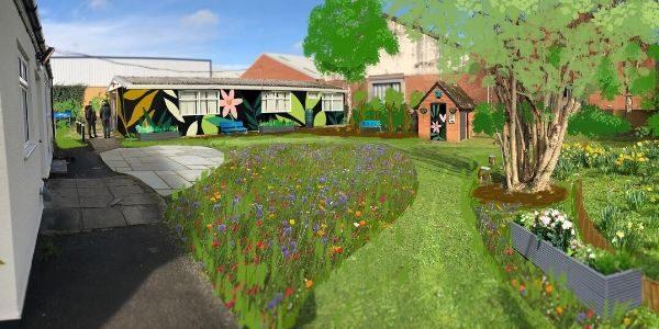 Rendering showing planned garden