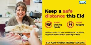 NHS poster about safety for Eid