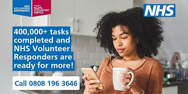 NHS Volunteer Responders continue to support with essential tasks