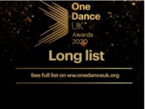 One Dance UK Awards logo.