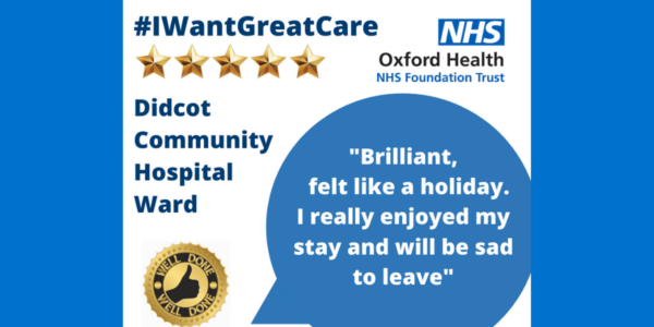 Well done Wednesday: Five stars for Didcot Community Hospital