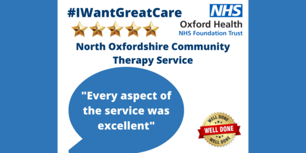 Patients give top marks to another Oxford Health service