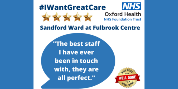 Well done Wednesday: Five stars for Sandford Ward at The Fulbrook Centre