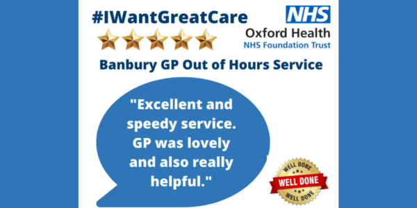 Five star Friday celebrating Banbury GP Out of Hours service