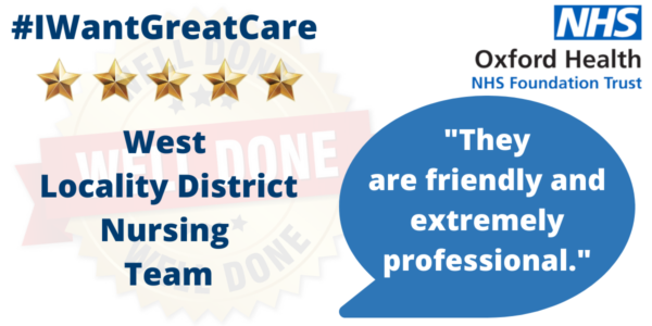 """Five Stars for the """"amazing"""" West Locality District Nurses"""