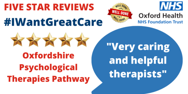 Talking therapies creates a welcome space for five star reviews