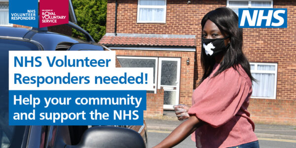 NHS Volunteer Responders neeeded. Help your community and support the NHS.