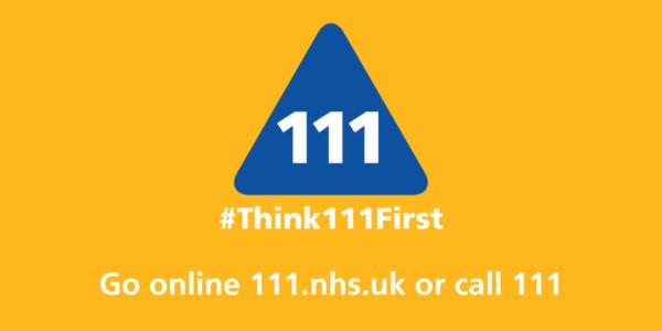 NHS 111 advert