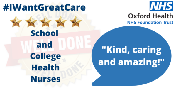 """Five Stars for our """"Supportive"""" School and College Health Nurses"""