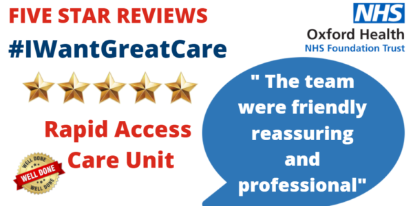 """Say hello to our """"outstanding"""" Rapid Access Care Unit"""