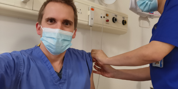 Covid Vaccine: Award-winning doctor gets his and praises vaccine trialists