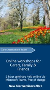 Cover of the Bucks carers workshop leaflet