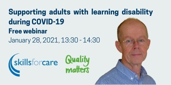 Notice of a webinar on supporting adults with learning disability during covid-19