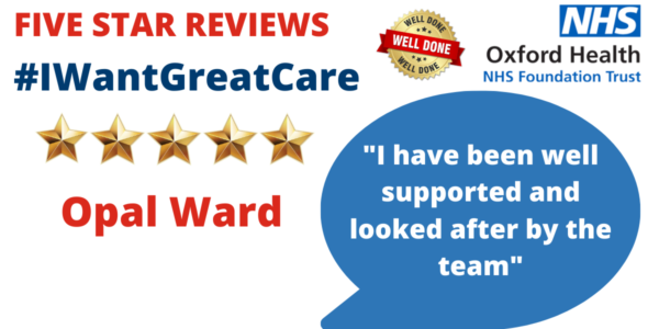 Patient feedback proves our Opal ward is a real gem