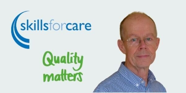 Photo of Simon Jones with Skills for Care and Quality Matters logos