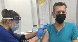 Vaccination taking place in Aylesbury