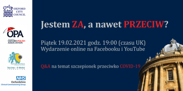 "Covid vaccination live event for Polish community: ""Jestem ZA a nawet PRZECIW"""
