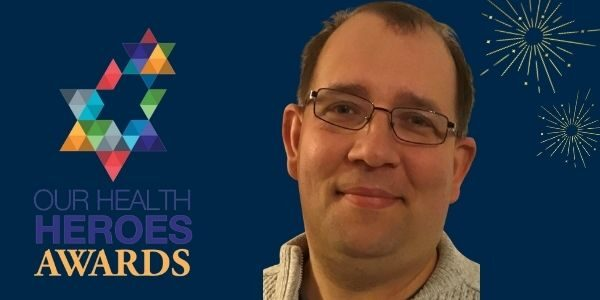 Thomas Gregory-Smith and Our Health Heroes awards logo