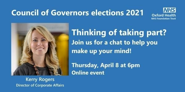 Thinking of becoming a governor? Join us on April 8