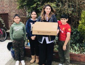 Lily Sabir and children