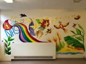The whole mural
