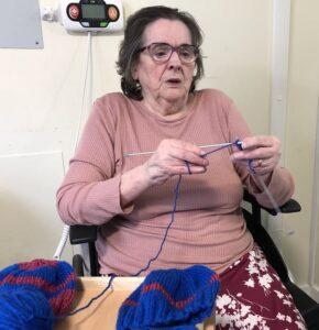 Lady knitting wool hats