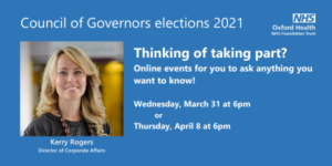 Banner for governor information event