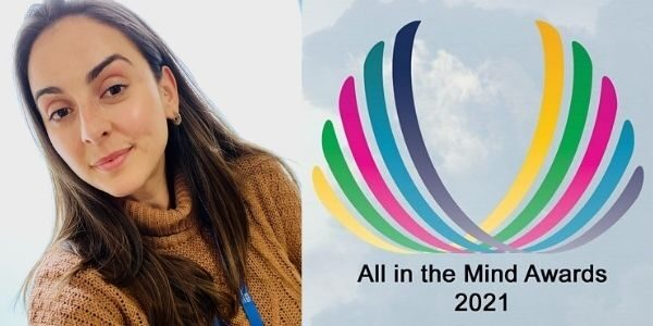Richa Barreto and All in the Mnd awards logo