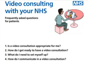 Video consulting with your NHS