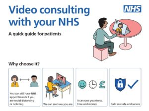 Video consulting with your NHS quick guide patients